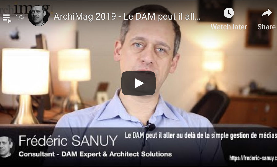 DAM vs PIM, Standard, enterprise DAM in 2019 ?