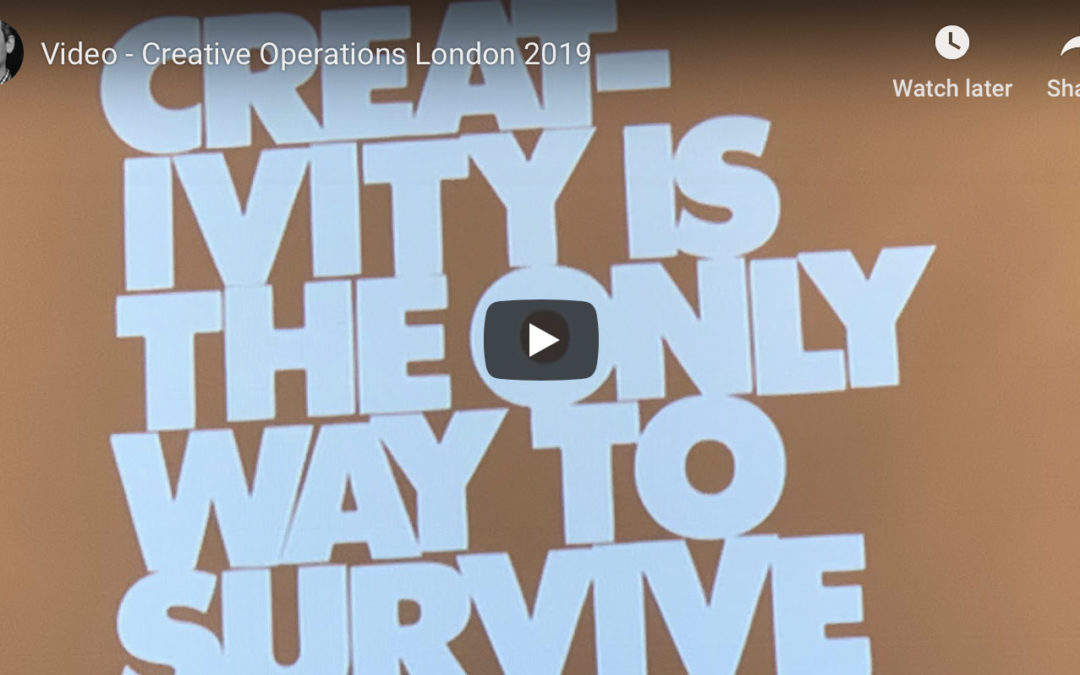 Video Creative Operations London 2019