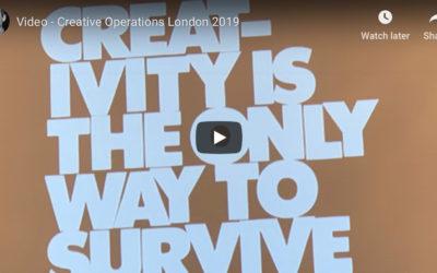 Video Creative Operations London 2019