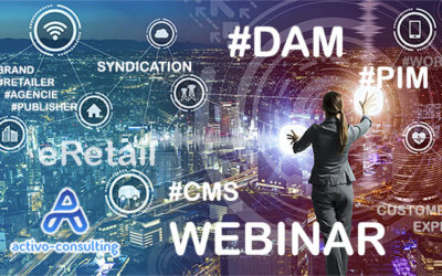 """WEBINAR : """"How to select the right marketing cocktail between DAM, PIM and CMS in 2020"""""""