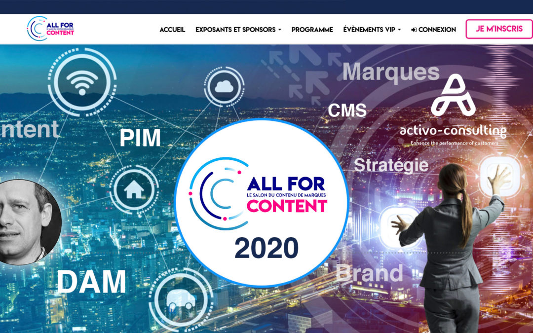 ALLFORCONTENT 2020 – Product Content Factory au coeur de la stratégie des Marques