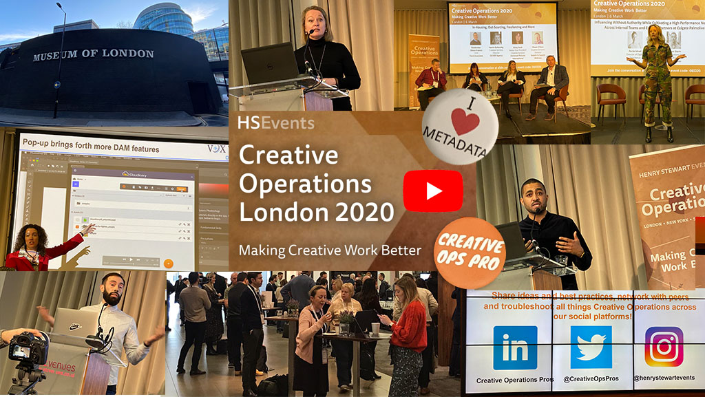 Creative Operations London 2020 – Creativity Matters alongside DAM
