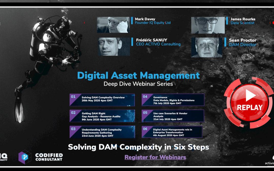 Replay 1 – Digital Asset Management Deep Dive Webinar Series
