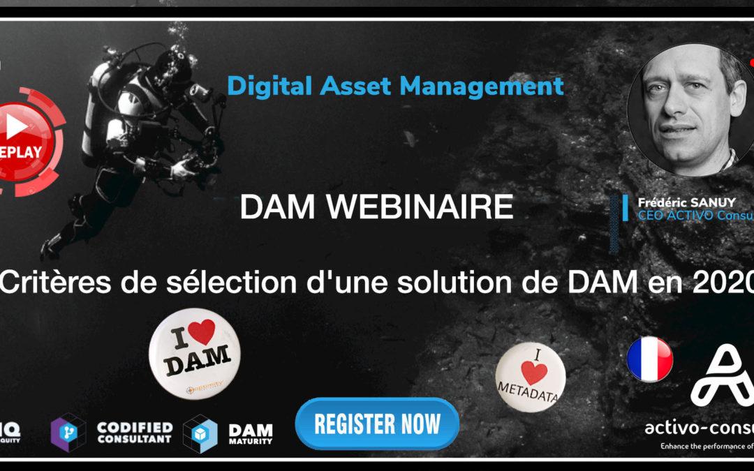Webinar Replay – Critères de sélection d'une solution de DAM en 2020