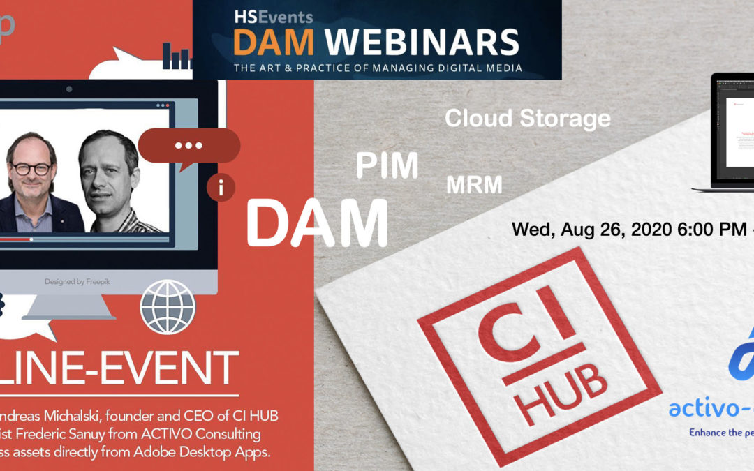 Webinar – Connecting Content directly from your DAM/PIM/Cloud Storage to your Adobe Desktop Application