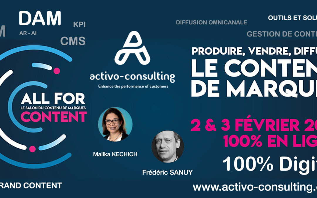 ALL FOR CONTENT 2021 – GESTION DE CONTENU DES MARQUES